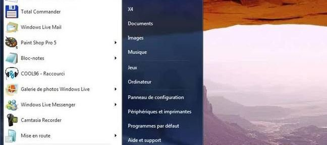 Tuto Raccourcis vers les différents modules Windows