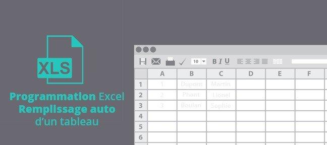 Tuto Remplir Automatiquement Un Tableau Excel En Programmation Vba 2010 Sur Tuto Com