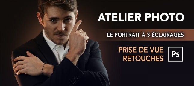 Tuto Atelier photo et retouches Photoshop : Le portait à éclairage 3 points Photoshop