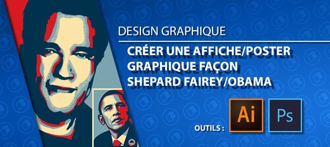 tuto cr er une affiche ou poster graphique fa on shepard fairey obama avec illustrator cc sur. Black Bedroom Furniture Sets. Home Design Ideas