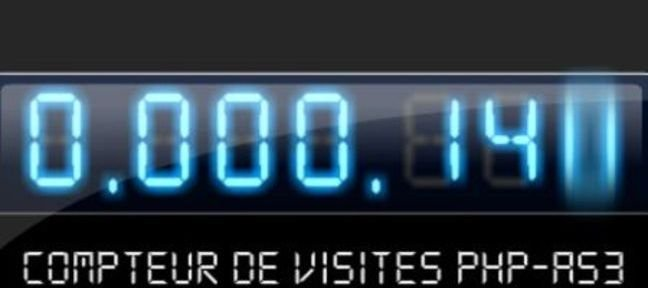 Tuto Compteur de visites digital Flash