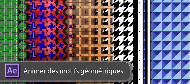 Tuto After Effects : Animer des motifs géométriques After Effects