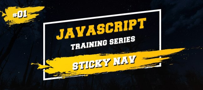 Javascript Training Series : Fixer une navigation au scroll