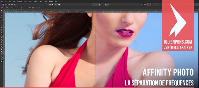 Tuto Gratuit Affinity Photo - La séparation de fréquences Affinity Photo