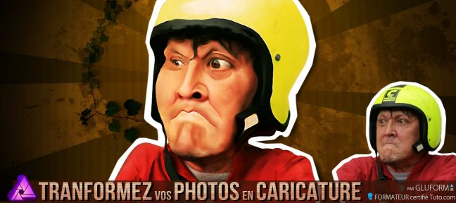 Tuto Transformez vos photos en caricature et donnez leurs un look cartoon Affinity Photo