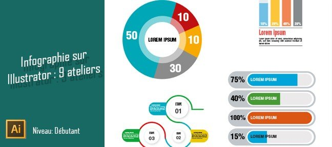 Tuto Infographies sur Illustrator : 9 ateliers pratiques Illustrator