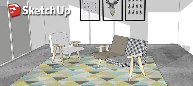 tuto sketchup mod lisez du mobilier scandinave avec sketchup 2017 sur. Black Bedroom Furniture Sets. Home Design Ideas