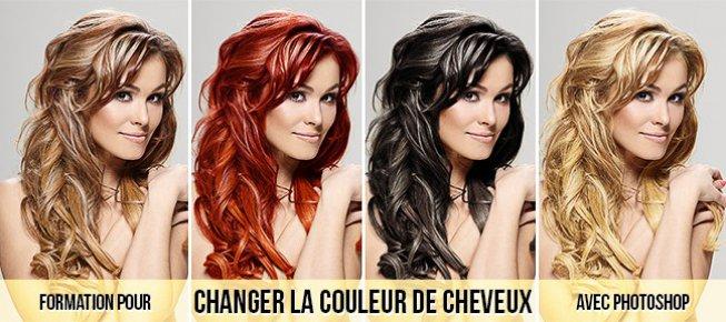 Changer la couleur de cheveux photoshop