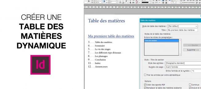 Tuto Creer Une Table Des Matieres Dynamique Avec Indesign Cs6 Sur