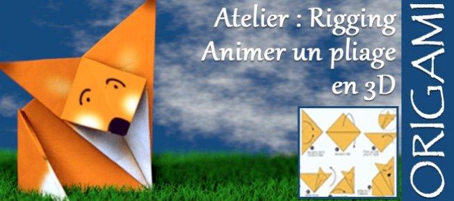Tuto Atelier Origami 3d Modéliser Et Animer Le Pliage D Un Animal En Papier Avec Cinema 4d 18 Sur Tuto Com