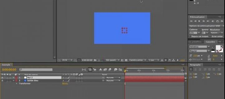 Tuto Objets nuls After Effects