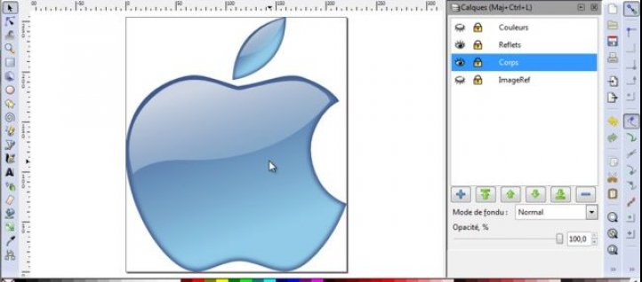 Tuto Logo Apple Aqua Inkscape