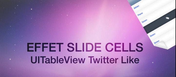 Tuto TableView Slide Cell Xcode