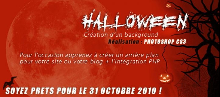 Tuto Background Halloween Photoshop