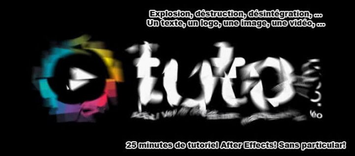 Tuto Explosion d'une typo avec CC Pixel Poly After Effects