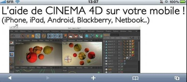 Tuto L'aide de CINEMA 4D sur votre mobile (version MAC) Cinema 4D