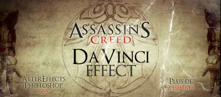 Tuto Reproduction du style Davinci d'assassin's creed Photoshop
