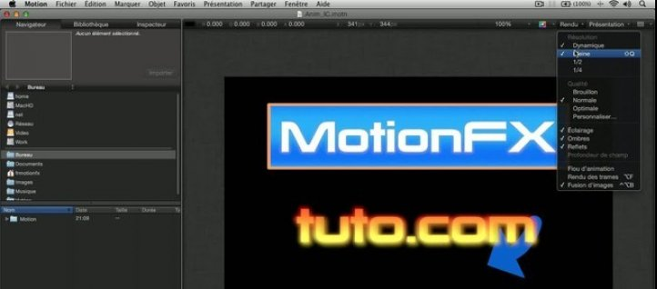 Tuto Options de visualisation dans le Canevas Motion