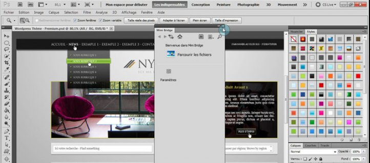 Tuto Personnaliser l'interface pour le webdesign Photoshop
