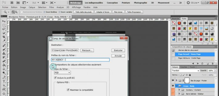 Tuto Exporter les compositions de calques en PDF Photoshop