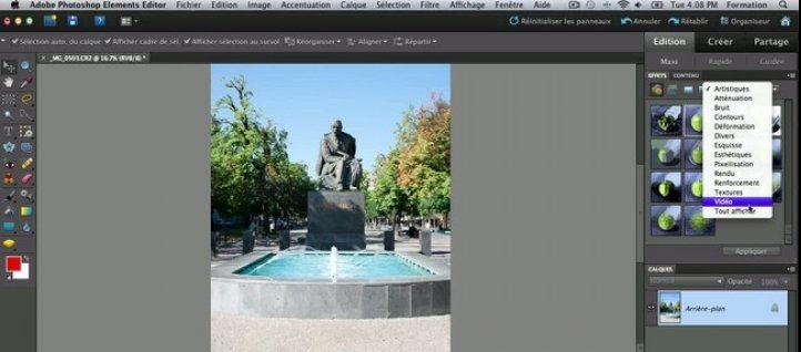 Tuto Le mode retouche maxi - les effets Photoshop Elements