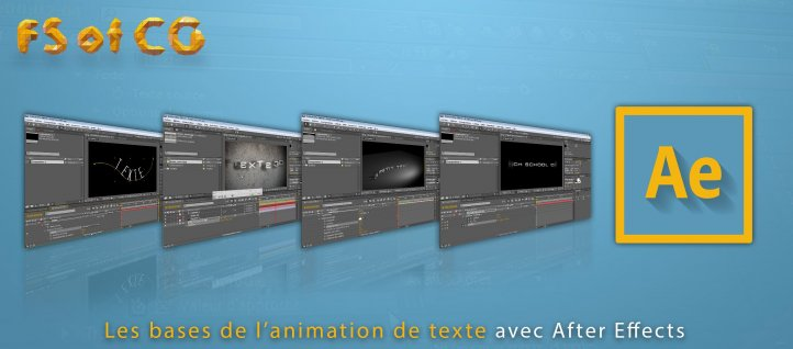 Tuto After Effects : Les bases de l'animation de texte After Effects