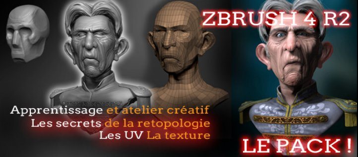 Tuto Formation Zbrush 4 l'atelier pratique complet ZBrush