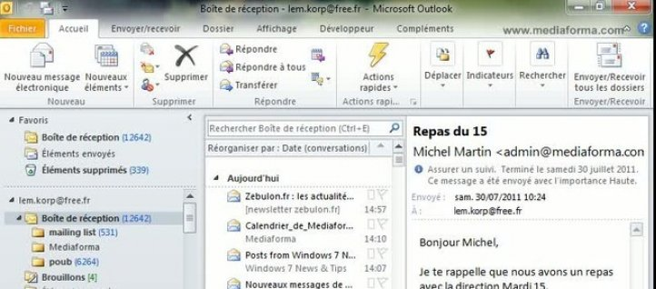 Tuto Affecter une tâche Outlook