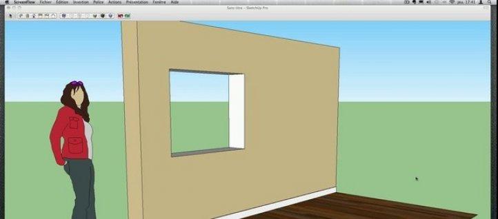 tuto poser des plinthes facilement sketchup. Black Bedroom Furniture Sets. Home Design Ideas