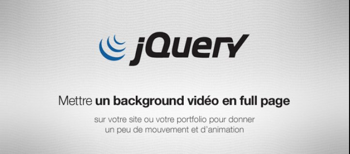 Tuto Mettre un background vidéo en full page jQuery