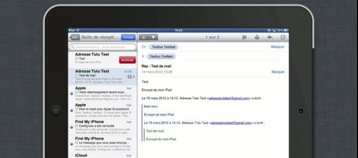 Tuto Archiver ou Supprimer ses mails ? iPad