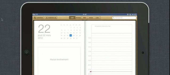 Tuto Gérer l'application Ical iPad