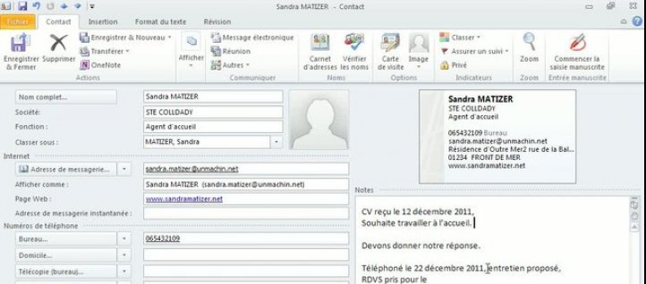 Tuto Zone Notes Outlook