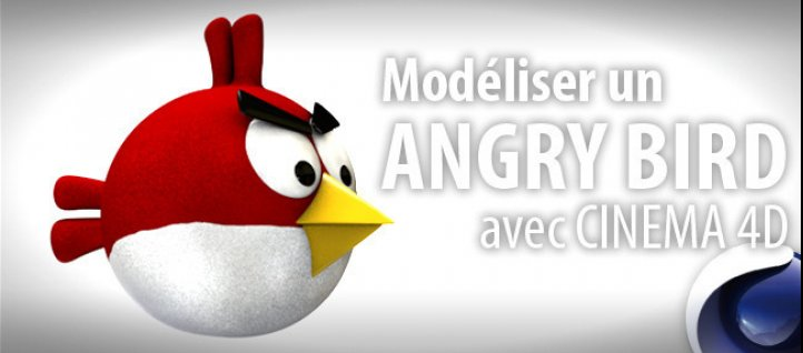 Tuto Modéliser un Angry Bird Cinema 4D