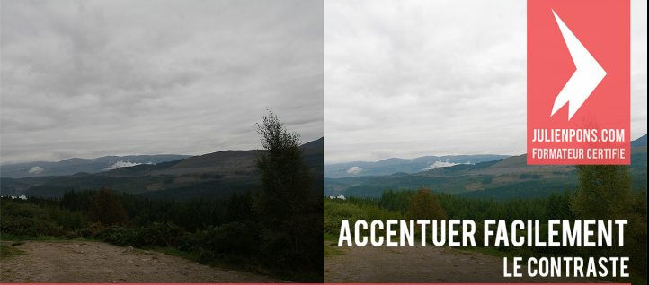 Tuto Accentuer facilement le contraste d'une photo Photoshop
