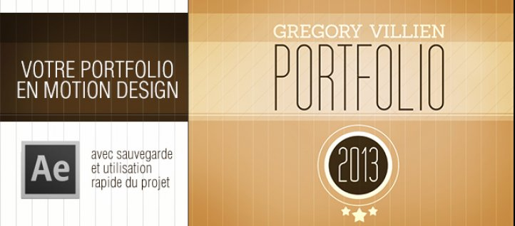 Tuto Votre Portfolio en Motion design After Effects