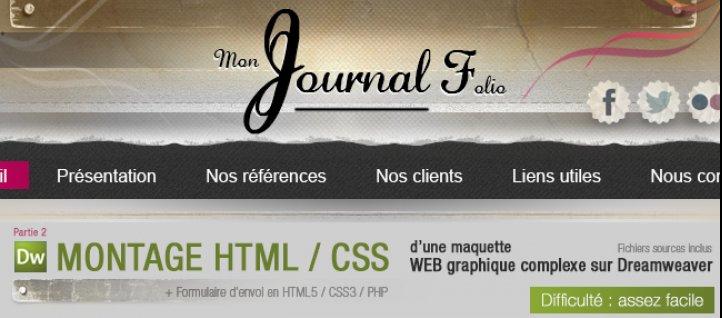 tuto montage html    css d u0026 39 une maquette web graphique complexe dreamweaver