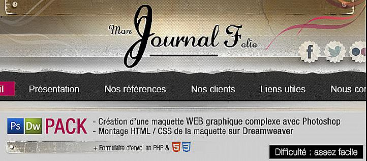 Tuto Pack : Maquette Web Complexe Photoshop