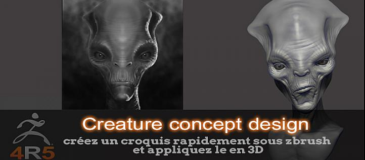 Tuto ZBrush : Créature concept design ZBrush