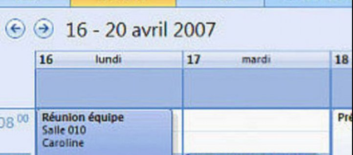 Tuto Gestion d'un calendrier Outlook