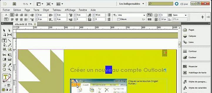 tuto indesign gratuit  formations indesign gratuite sur tuto com