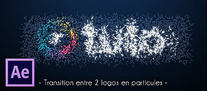 Tuto Transition entre 2 logos en particules After Effects