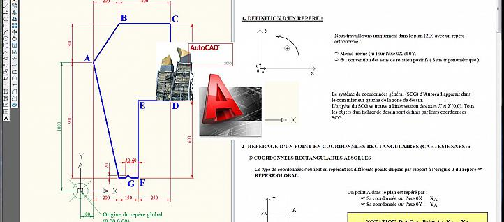 Tuto Définition d'un point en DAO Autocad