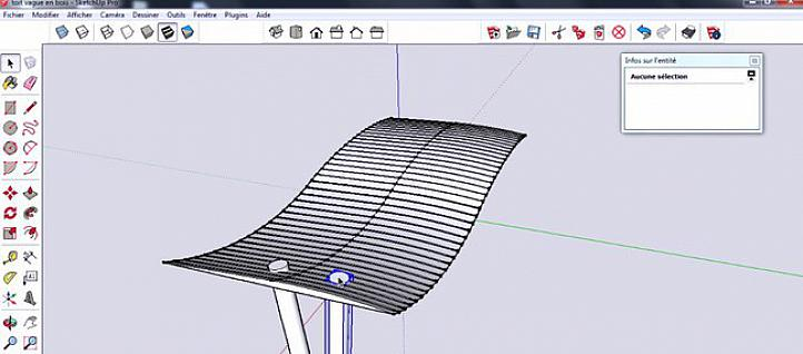 Tuto Shetchup : copies multiples le long d'une courbe Sketchup