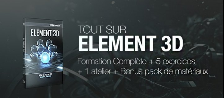 Tuto Tout Element 3D pour After Effects After Effects