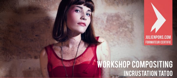 Tuto Workshop compositing Photoshop - Incrustation de tatoo Photoshop