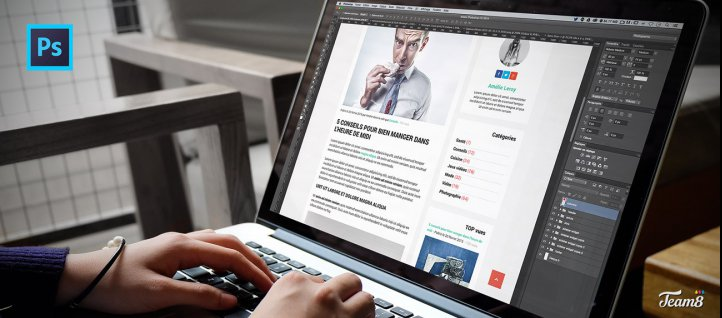 Tuto Créer le template d'un blog responsive avec Photoshop Photoshop