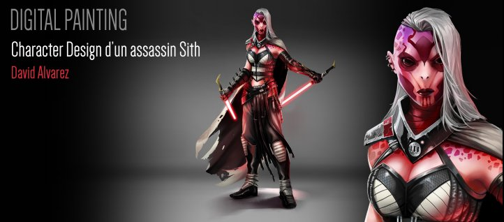 Tuto Digital Painting Photoshop : Character Design dans l'univers de STARWARS Photoshop
