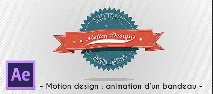 Tuto Motion design - Animation d'un bandeau rétro After Effects