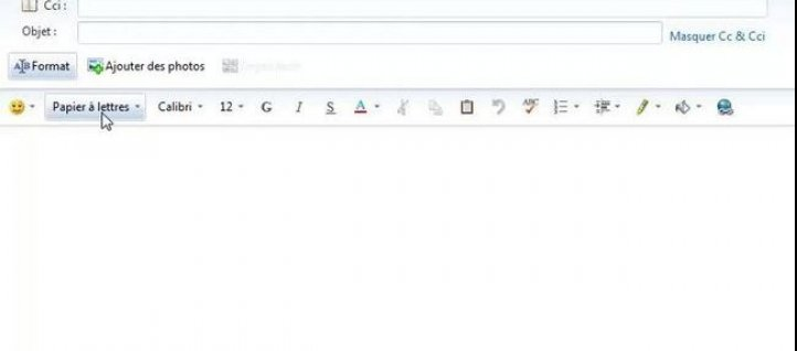 Tuto Utiliser un papier à lettres dans Windows Live Mail Windows